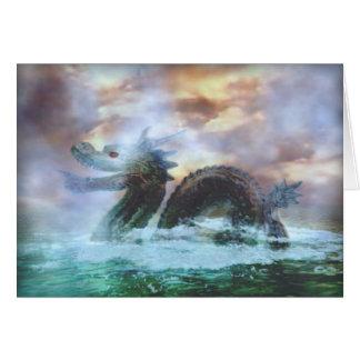 Serpiente de mar tarjeta de felicitación