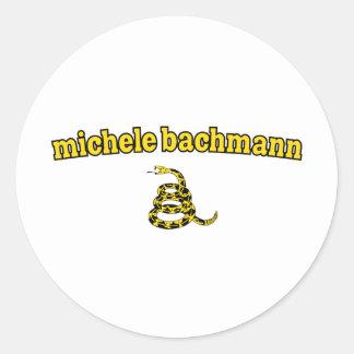 Serpiente de Micaela Bachmann Gadsden Pegatina Redonda
