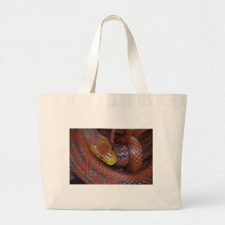 Serpiente de rata roja bolsas de mano