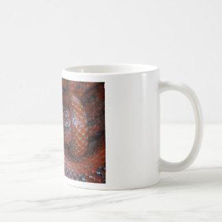 Serpiente de rata roja tazas de café