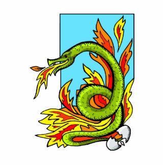 Serpiente de respiración del fuego esculturas fotograficas