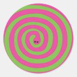 Serpiente de Swirly Etiquetas Redondas