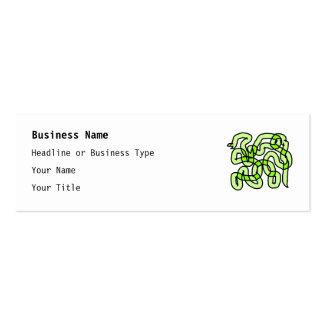 Serpiente de verde lima tarjetas de visita