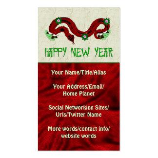Serpiente del Año Nuevo Plantillas De Tarjetas Personales
