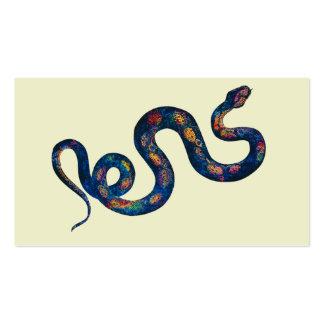 Serpiente del arco iris tarjetas de visita