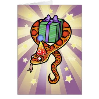 Serpiente del cumpleaños tarjeta de felicitación