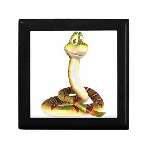 Serpiente del dibujo animado caja de regalo