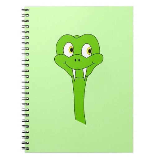 Serpiente del dibujo animado libros de apuntes