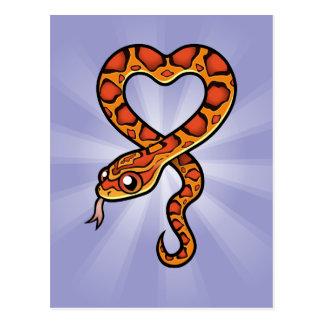 Serpiente del dibujo animado postales