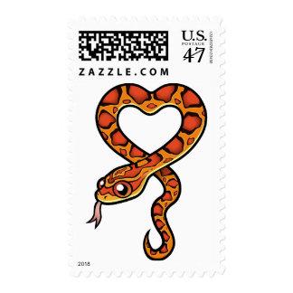 Serpiente del dibujo animado sellos