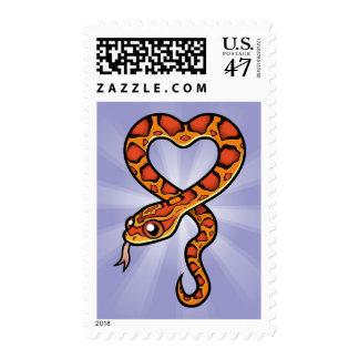 Serpiente del dibujo animado sellos postales
