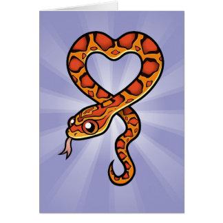 Serpiente del dibujo animado tarjeta de felicitación
