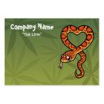 Serpiente del dibujo animado tarjetas de negocios