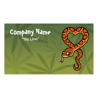 Serpiente del dibujo animado tarjetas de visita