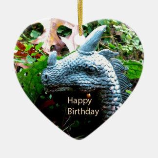 Serpiente del dragón del feliz cumpleaños adornos de navidad
