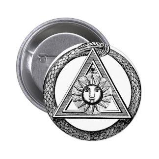 Serpiente del Freemason del triángulo Pins
