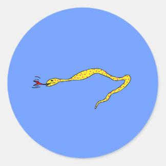 Serpiente del lunar pegatina redonda