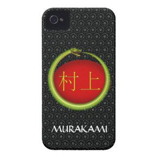 Serpiente del monograma de Murakami Case-Mate iPhone 4 Carcasa