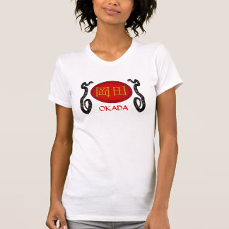 Serpiente del monograma de Okada Camiseta