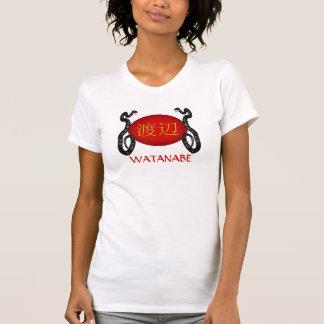 Serpiente del monograma de Watanabe Camisetas