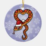 Serpiente del navidad ornamentos de navidad