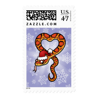Serpiente del navidad sello postal