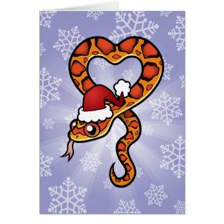 Serpiente del navidad tarjeta de felicitación