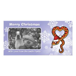 Serpiente del navidad tarjeta personal con foto