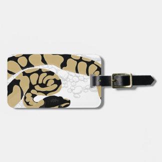Serpiente del pitón de la bola etiquetas para maletas
