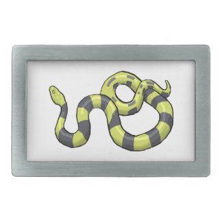 Serpiente del pitón hebilla de cinturon rectangular