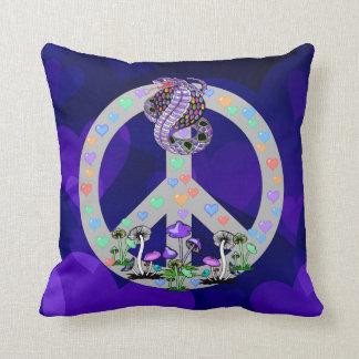Serpiente del símbolo de paz almohadas