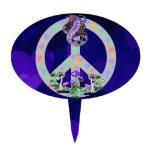 Serpiente del símbolo de paz figura para tarta