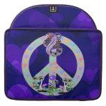 Serpiente del símbolo de paz funda para macbooks