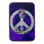 Serpiente del símbolo de paz fundas macbook air