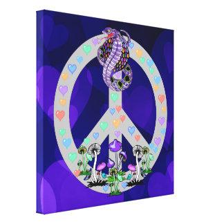 Serpiente del símbolo de paz impresiones de lienzo