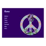 Serpiente del símbolo de paz plantilla de tarjeta personal