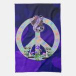 Serpiente del símbolo de paz toallas de mano
