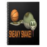 Serpiente disimulada libro de apuntes con espiral