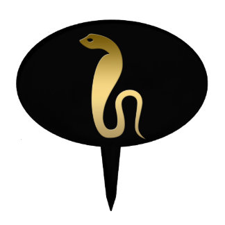 Serpiente egipcia antigua - diosa Renenutet Figura De Tarta