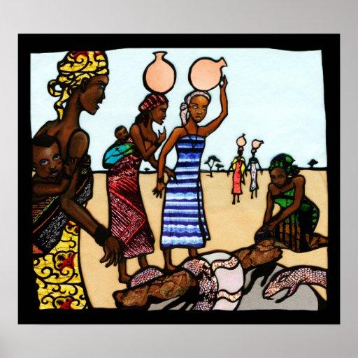 Serpiente en el pozo - un cuento popular africano impresiones