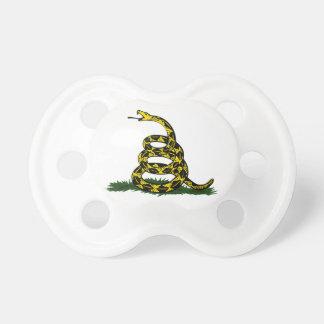 Serpiente en espiral de la bandera de Gadsden Chupete