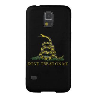 Serpiente en espiral de la bandera de Gadsden Carcasas Para Galaxy S5