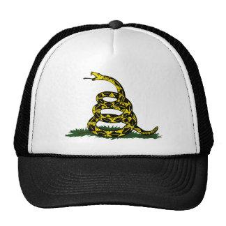 Serpiente en espiral de la bandera de Gadsden Gorro De Camionero