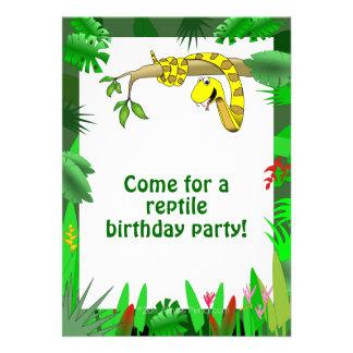Serpiente en invitaciones de encargo del cumpleaño