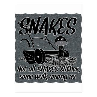 Serpiente en la hierba postal