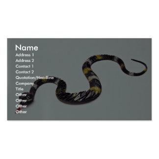 Serpiente fangosa tarjeta personal