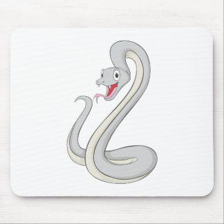 Serpiente feliz de la mamba negra tapete de raton