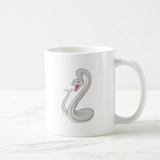 Serpiente feliz de la mamba negra taza de café