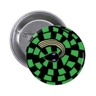 Serpiente - ilusión óptica (verde) pin redondo 5 cm