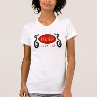 Serpiente indicada del monograma camiseta